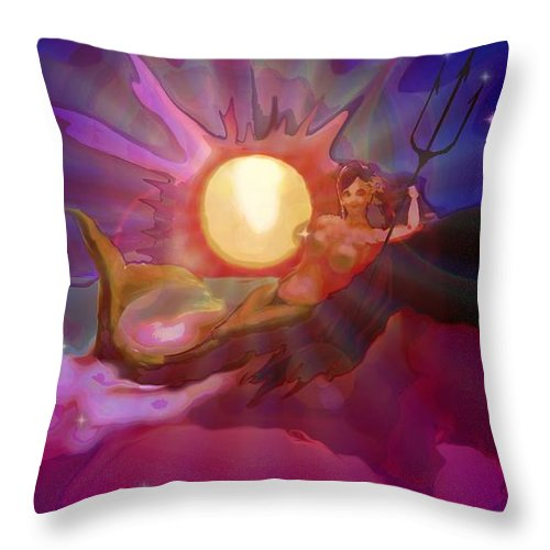 Sera Throw Pillow featuring the digital art Sera Maroon by Mark Kleinschnitz