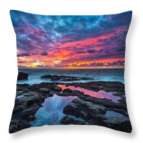 Sunset Throw Pillow featuring the photograph Serene Sunset by Robert Bynum