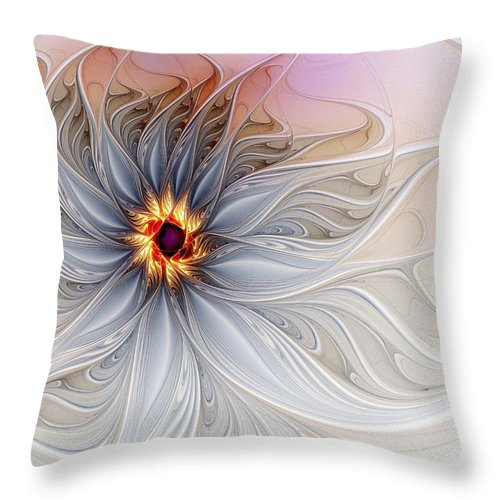 Digital Art Throw Pillow featuring the digital art Serenely Blue by Amanda Moore