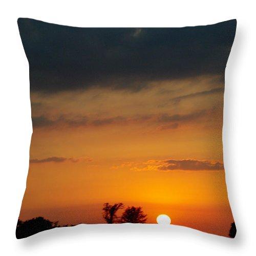 Throw Pillow featuring the photograph Serengeti Sunset by Jenny Gandert