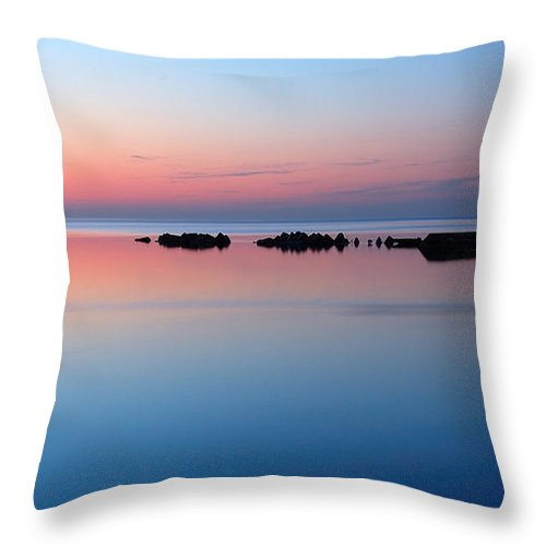 Blue Throw Pillow featuring the photograph Serenity by Joe Ng