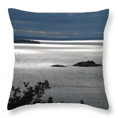 Lake Throw Pillow featuring the photograph Serenity by Kelly Mezzapelle
