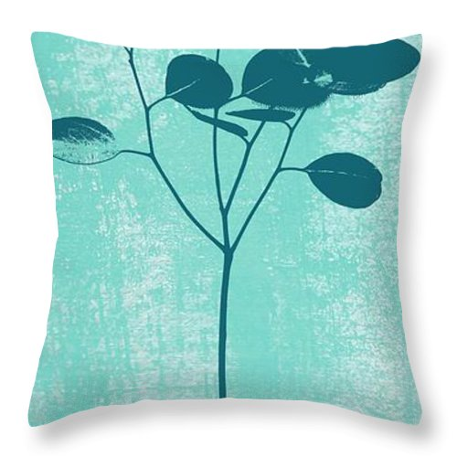 Serenity Throw Pillow featuring the mixed media Serenity by Linda Woods