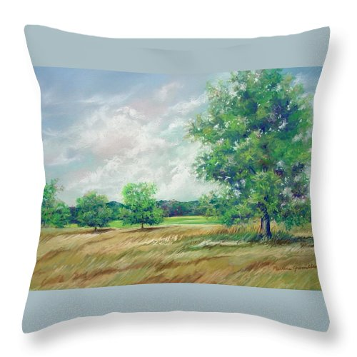 Pastel Throw Pillow featuring the painting Serenity by Marlene Gremillion