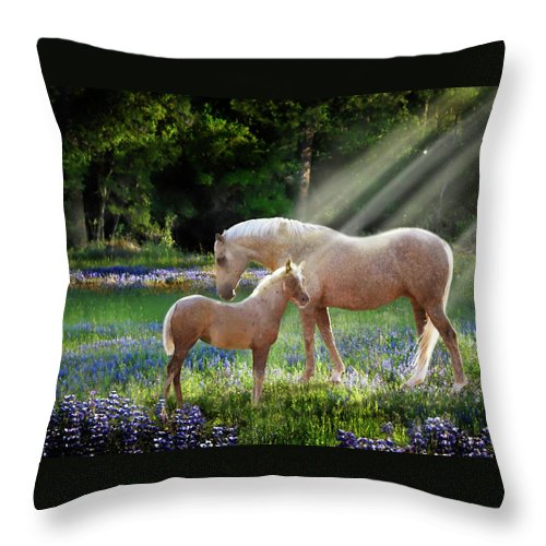 Horse Photography Throw Pillow featuring the photograph Serenity by Melinda Hughes-Berland