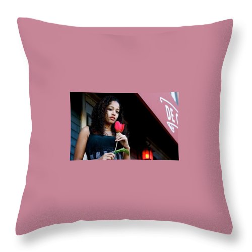 Salma Throw Pillow featuring the photograph Serenity by Salma Yusuf