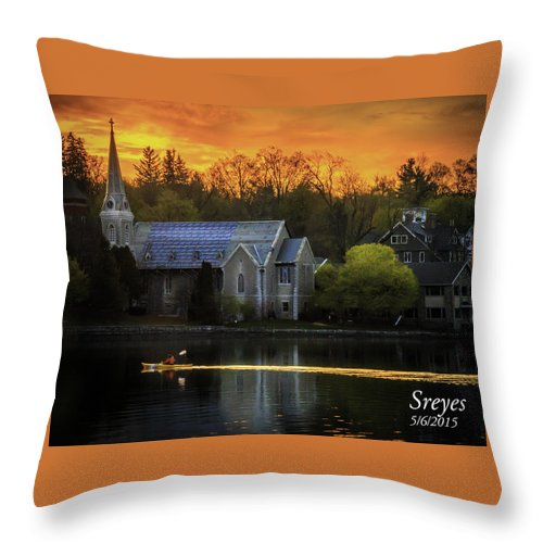Skaneateles Ny Throw Pillow featuring the photograph Serenity by Scott Reyes