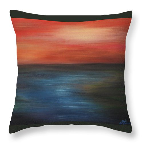 Scenic Throw Pillow featuring the painting Serenity by Todd Hoover