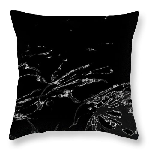 Trees Throw Pillow featuring the photograph Serialized by Gary Bartoloni
