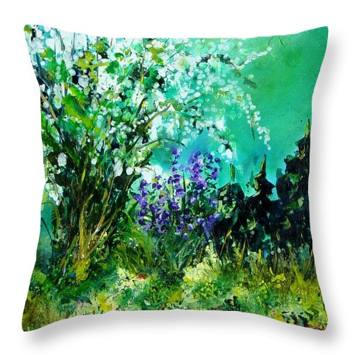 Tree Throw Pillow featuring the painting Seringa by Pol Ledent
