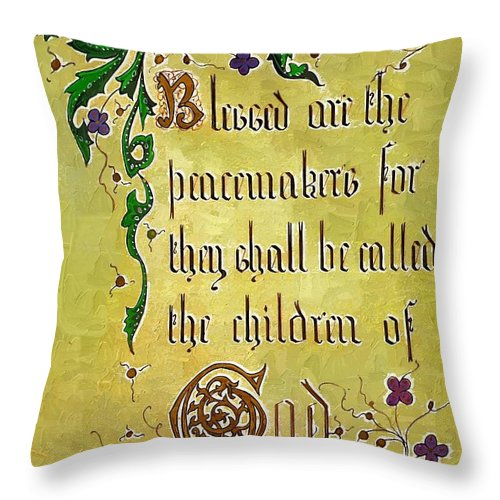 Calligraphy Throw Pillow featuring the photograph Sermon3 by Donna Bentley