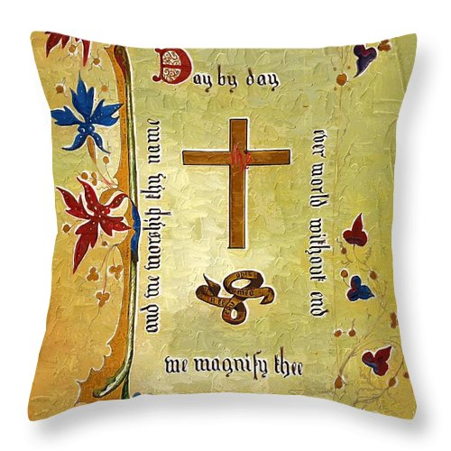 Religion Throw Pillow featuring the photograph Sermon4 by Donna Bentley