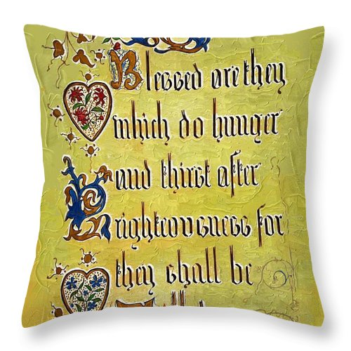 Religion Throw Pillow featuring the photograph Sermon8 by Donna Bentley