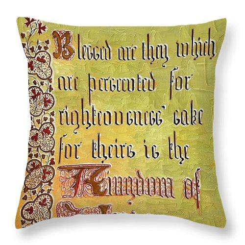Sermon Throw Pillow featuring the photograph Sermon9 by Donna Bentley