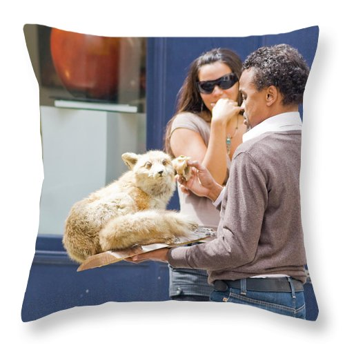 Taxidermy Throw Pillow featuring the photograph Set Dressing by Sam Gish