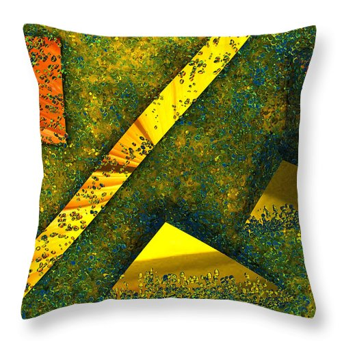 Background Throw Pillow featuring the digital art Setissimo 1 by Max Steinwald