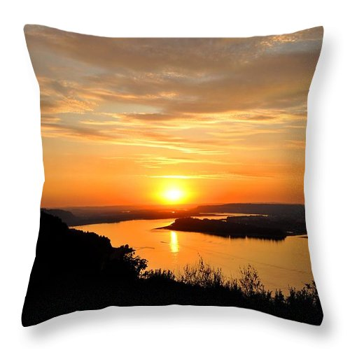 Sunsets Throw Pillow featuring the photograph Setting Sun by Noah Cole