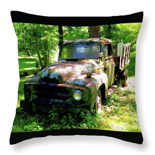 Transportation Throw Pillow featuring the photograph Settled Beauty by Jim Browder