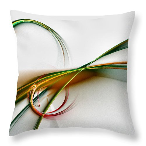Abstract Throw Pillow featuring the digital art Seven Dreams - Fractal Art by NirvanaBlues