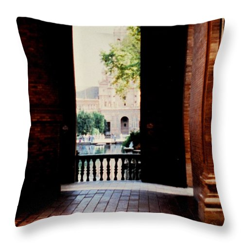 Seville Throw Pillow featuring the photograph Seville by Ian MacDonald