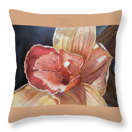 Flower Throw Pillow featuring the painting Sexy by Tatiana Escobar