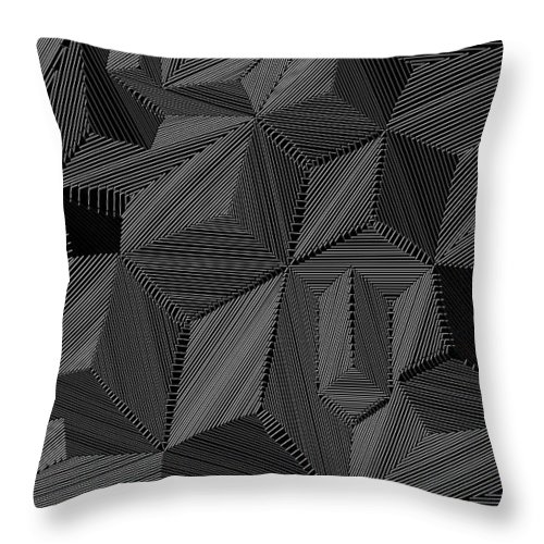 Digital Throw Pillow featuring the digital art Shaddows by Christopher Rowlands