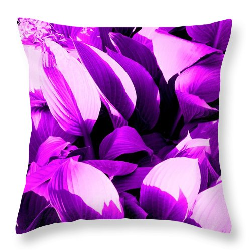Leaves Throw Pillow featuring the photograph Shades by Ian MacDonald