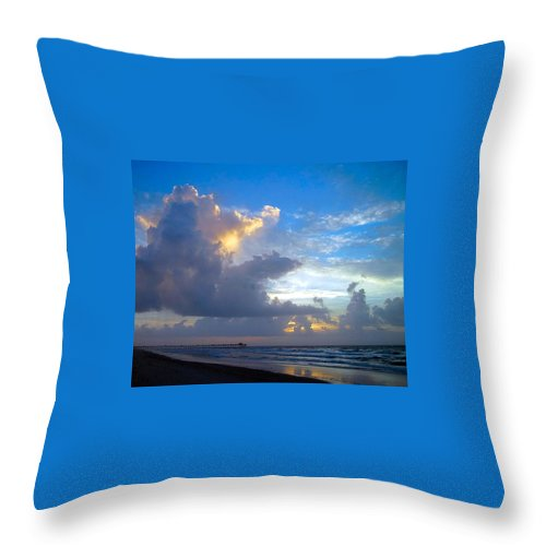 Sunrise Throw Pillow featuring the photograph Shades Of Blue by Betty Buller Whitehead