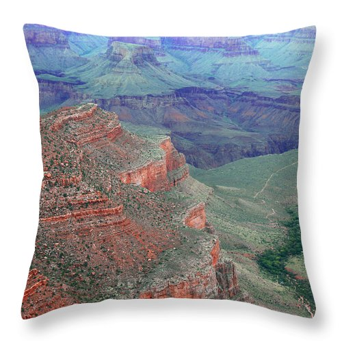 Grand Canyon National Park Throw Pillow featuring the photograph Shades Of The Canyon by Iryna Goodall