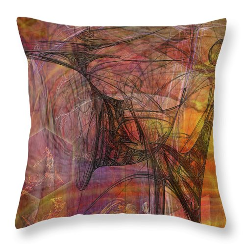 Shadow Dragon Throw Pillow featuring the digital art Shadow Dragon by John Beck