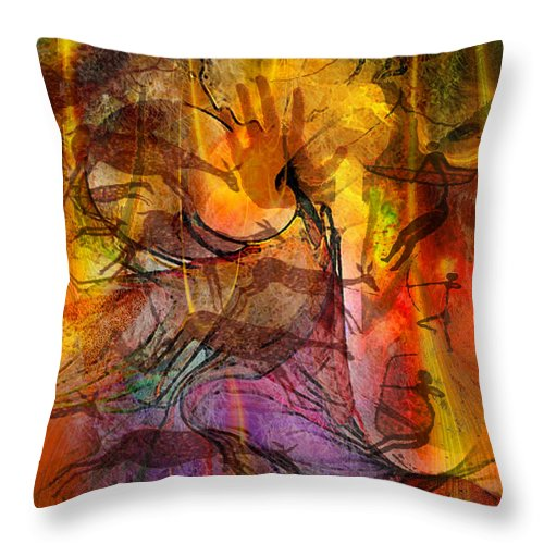 Shadow Hunters Throw Pillow featuring the digital art Shadow Hunters by John Beck