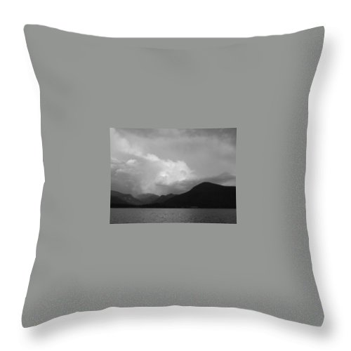 Shadow Mountain Lake Throw Pillow featuring the photograph Shadow Mountain Storm Cloud IIi by Jacqueline Russell