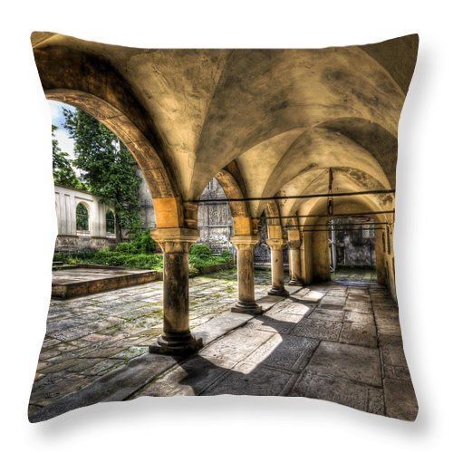 Armenian Throw Pillow featuring the photograph Shadow Of The Day by Evelina Kremsdorf
