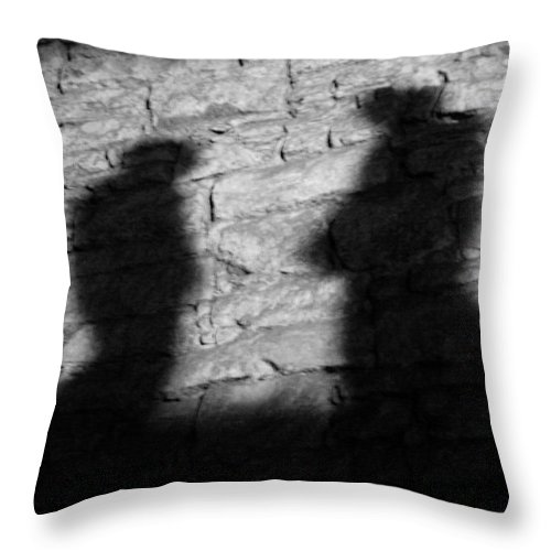 Wall Throw Pillow featuring the photograph Shadow On The Wall by Christine Till