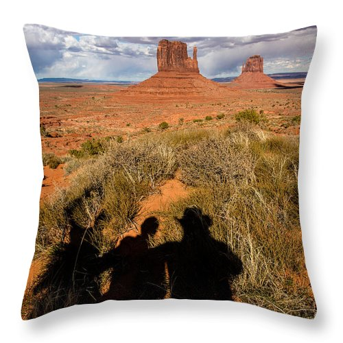 Landscapes Throw Pillow featuring the photograph Shadow Play by John Bartelt