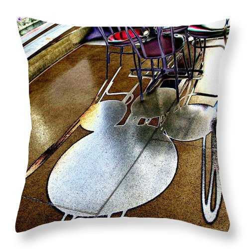 Shadow Throw Pillow featuring the photograph Shadow Play by Tim Allen