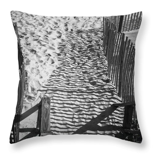 Shadow Throw Pillow featuring the photograph Shadows In The Sand by Teresa Mucha