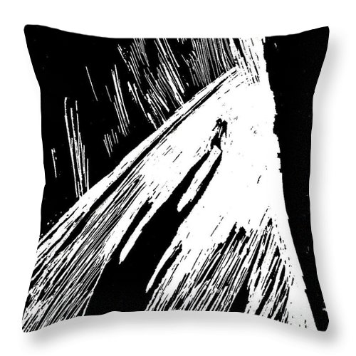 Shadows Throw Pillow featuring the drawing Shadows by Michael Grubb