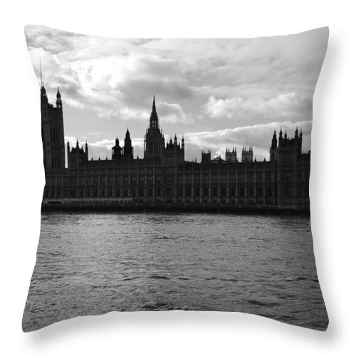 London Throw Pillow featuring the photograph Shadows Of Parliament by J Todd