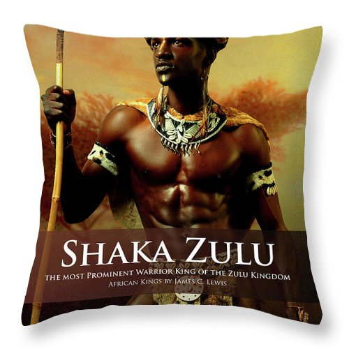 Shaka Zulu Throw Pillow For Sale By African Kings