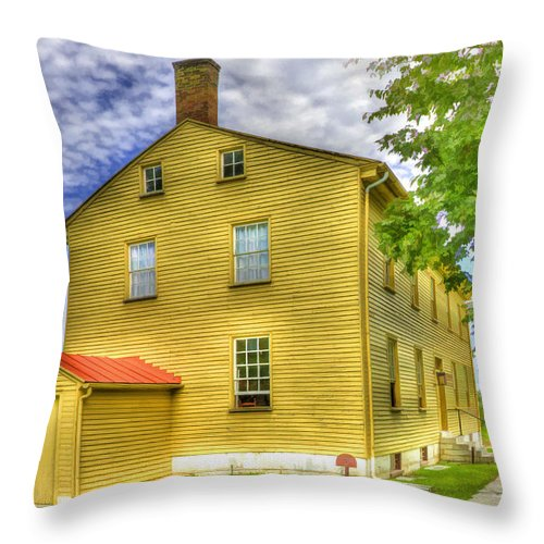 Shaker Throw Pillow featuring the photograph Shaker Building 3 by Sam Davis Johnson