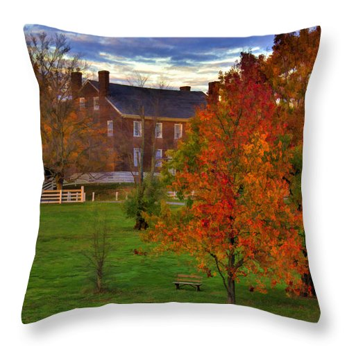 Shaker Throw Pillow featuring the photograph Shaker Lake 9 by Sam Davis Johnson