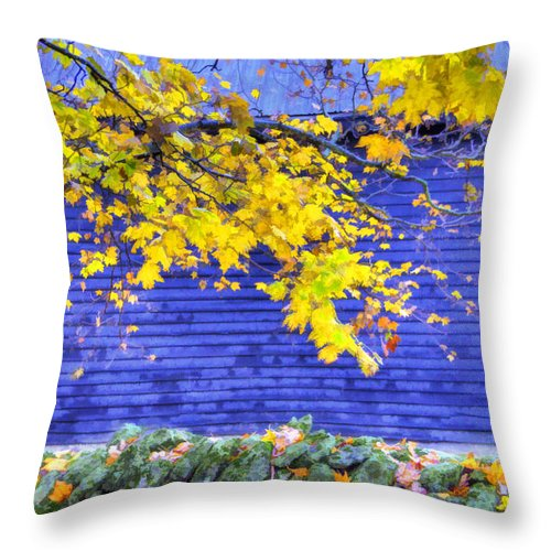 Shaker Throw Pillow featuring the photograph Shaker Stone Fence 2 by Sam Davis Johnson