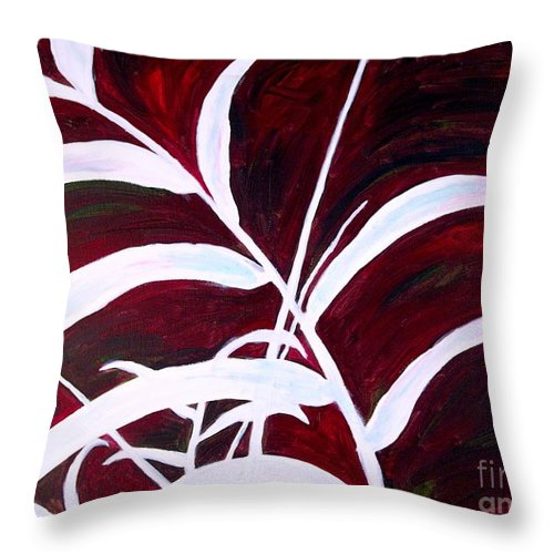Tree Throw Pillow featuring the painting Shall We Dance by Sheron Petrie