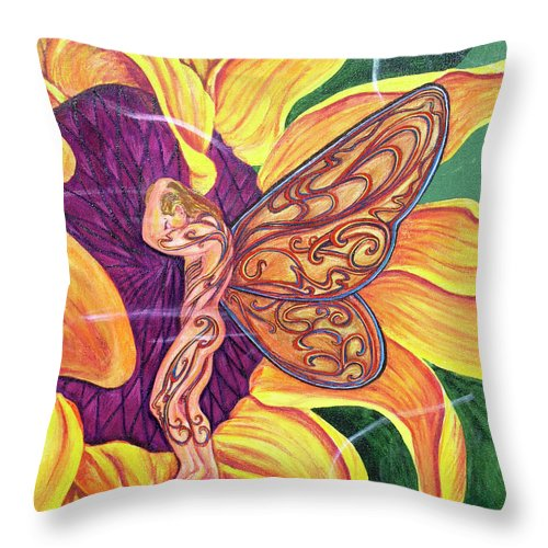 Shame Throw Pillow featuring the painting Shame by Bobby Jones