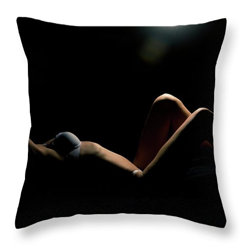 Woman Throw Pillow featuring the photograph Shape Of A Woman by Scott Sawyer