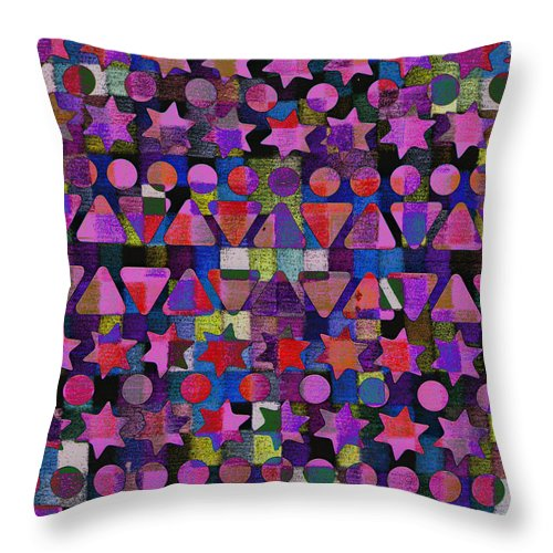 Fall Throw Pillow featuring the digital art Shapes 2 by Andy Mercer