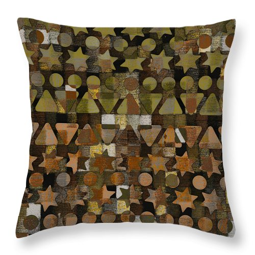 Fall Throw Pillow featuring the digital art Shapes by Andy Mercer