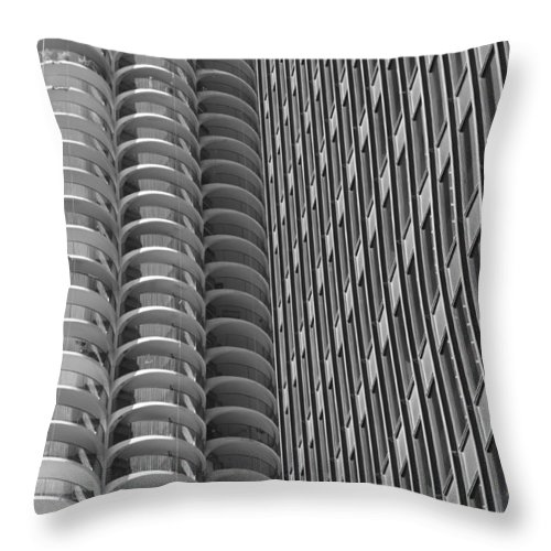 Marina Towers Throw Pillow featuring the photograph Shapes by Lauri Novak