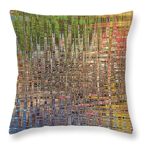 Abstract Throw Pillow featuring the painting Sharpened Light by Anne Cameron Cutri